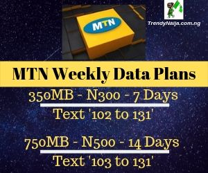 MTN weekly data plans