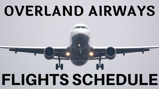 overland airways flight schedule