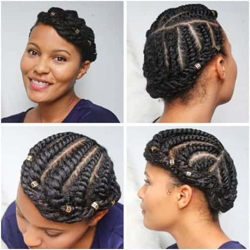 Accessorized Twisted Up-do
