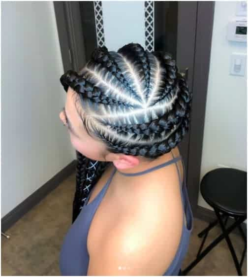 Twisted Braided Look for Natural Hair